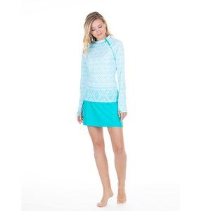 Women's Crystal Lagoon Zipper Rash Guard