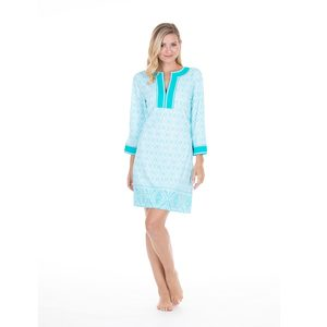 Women's Crystal Lagoon Embroidered Tunic Dress