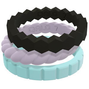 Women's Melody Stackable Silicon Ring Set