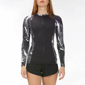 Women's Domino Full-Zip Rash Guard