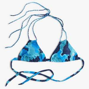 Women's Scales Camo Twist Triangle Bikini Top