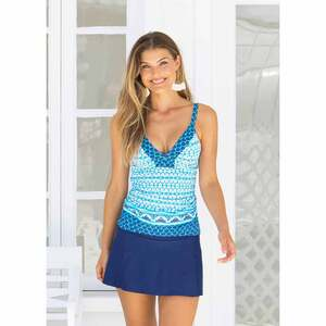 Women's  Embroidered Tankini Top