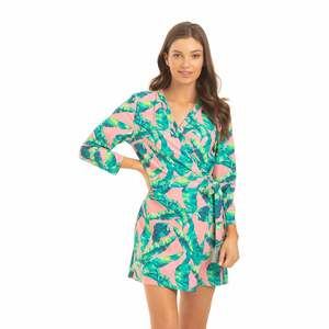 Women's Preppy Palm Wrap Romper