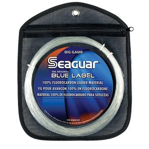 Blue Label Fluorocarbon Leader, Fluorescent Clear/Blue, 33 yds.