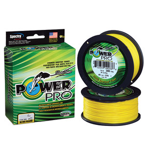 Spectra Braided Fishing Line, Hi-Vis Yellow, 300 yds.
