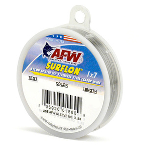 Surflon Nylon Coated Stainless Leader Wire, 30'