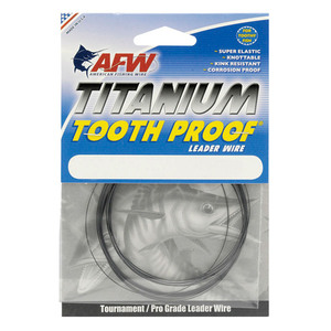 Titanium Tooth Proof® Single Strand Wire Leader, 15', Black Oxide, 30 lbs.