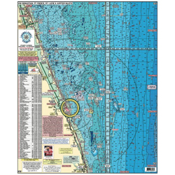 Home Port Charts Fishing & Diving Charts #2, Beach Haven To Cape May, Nj, Bethany Beach, De