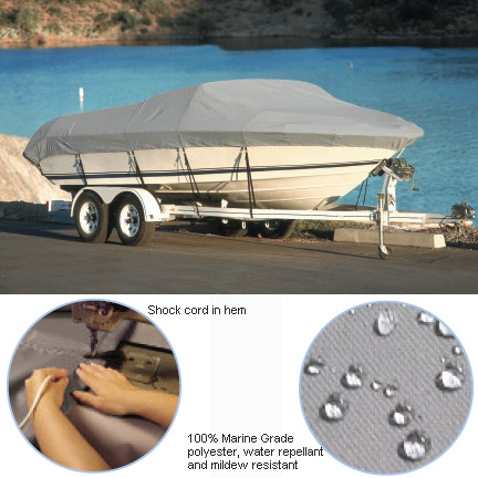 "Pontoon Cover, Gray, WeatherPro Plus, 22'0""-24'0"", 102"" Beam"