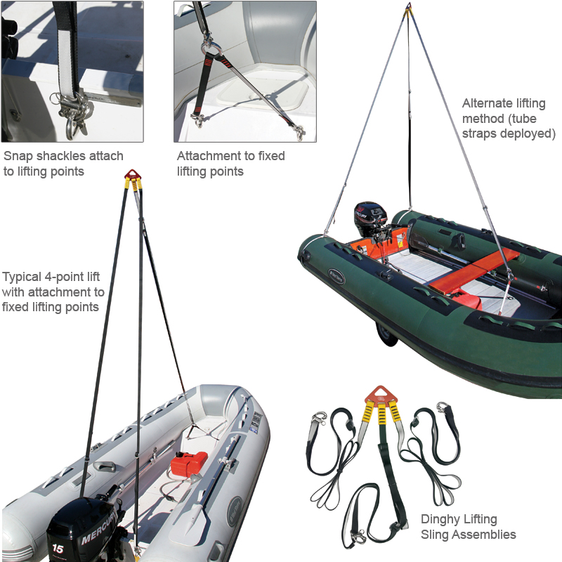 West marine dinghy lifting sling west marine for Outboard motor lifting strap