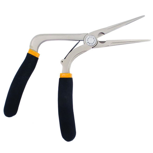 "7"" Pistol Grip Long Nose Pliers"