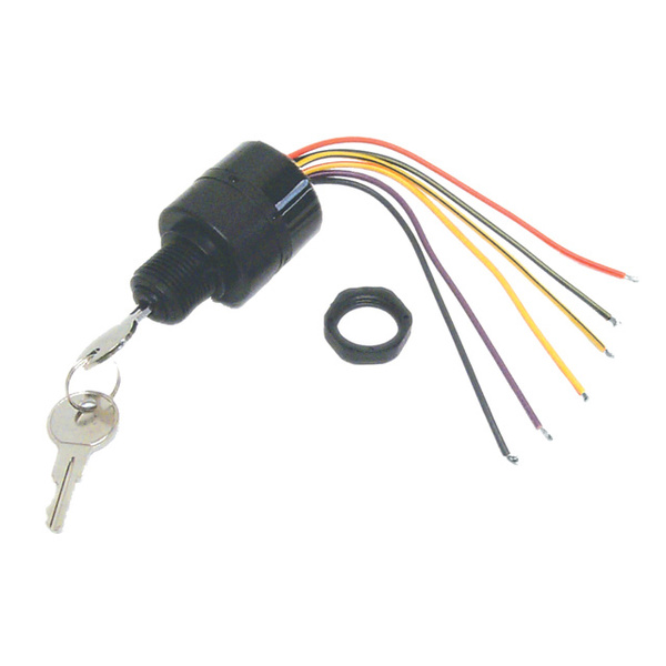 3-position magneto ignition switch, push-to-choke