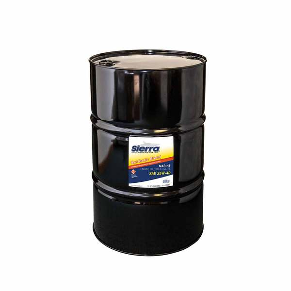 Sierra 25w40 synthetic blend engine oil 55 gal west marine for 55 gallon motor oil prices