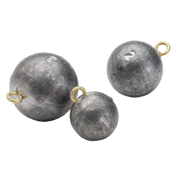 Bullet weights 8 oz cannon ball sinker west marine for Balls deep fishing sinkers
