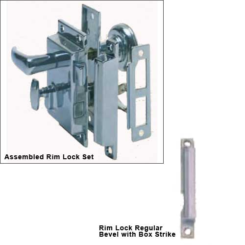 Rim Lock Box Strike - Regular Bevel