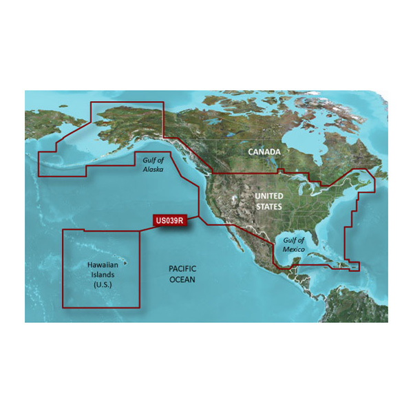 GARMIN HXUS039R US Western Canada and Bahamas BlueChart g2