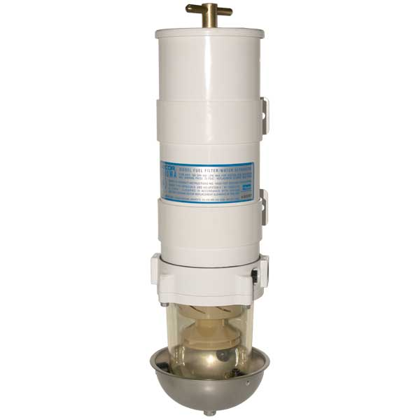 Marine 1000 Turbine Series Fuel Filter/Water Separator, 4-Micron