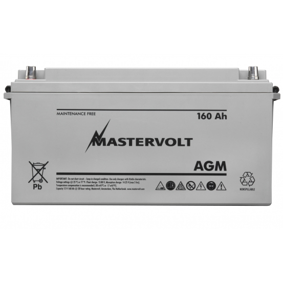 AGM 12/160 Group 4D Sealed Marine Battery