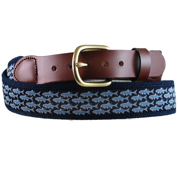 Men's Mini Tarpon Leather Tab Belt