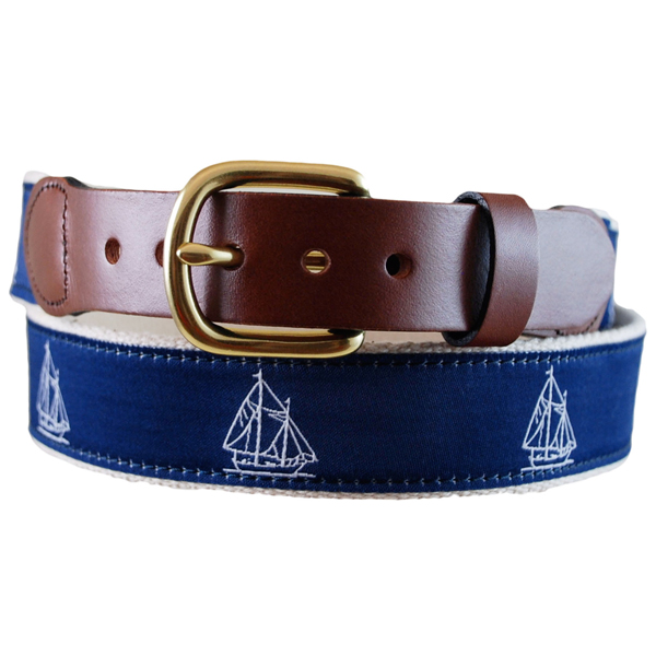 Men's Schooner Leather Tab Belt