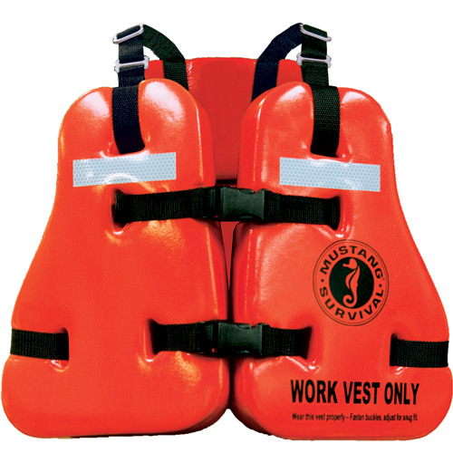 Mustang Survival Type V Vinyl Dipped Work Life Jacket
