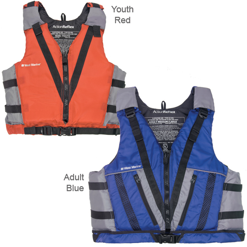 "West Marine Action Reflex Life Jacket, Red, Adult X-Large/XX-Large, 44""-56"" Chest"
