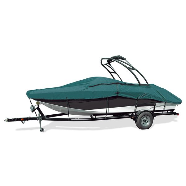 "V-Hull Tower Bow Rider Cover, I/O, Teal, Hot Shot, 20'5""-21'4"", 102"" Beam"
