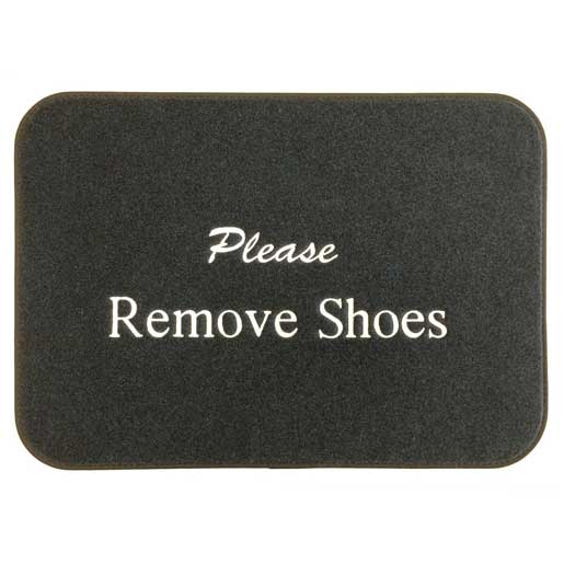 Remove Shoes Mat