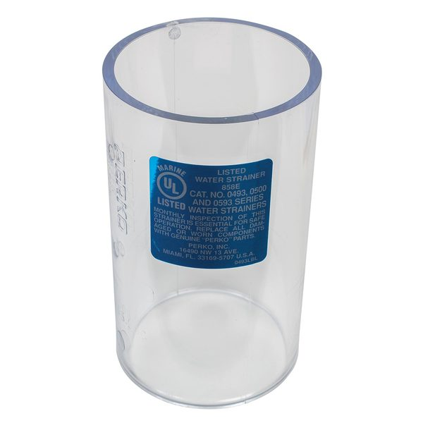 "Replacement Transparent Cylinder for 3/4"" 0493 Strainer"