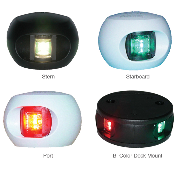Aqua Signal Series 34 LED Navigation Light, Stern, White Housing