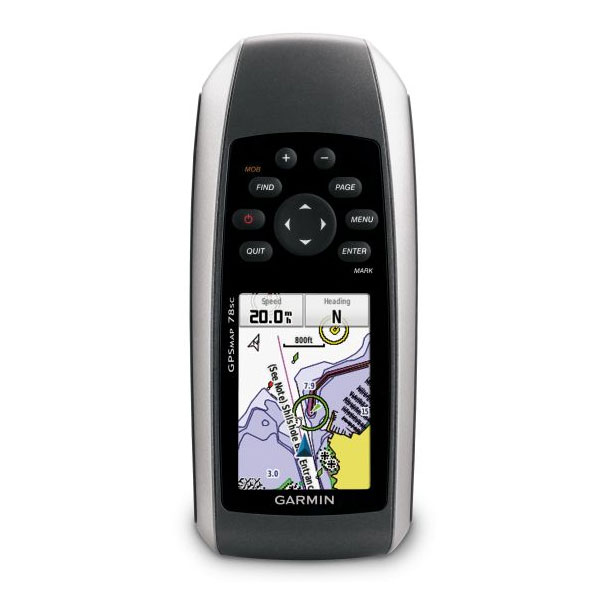 Garmin GPSMAP 78sc Marine Handheld GPS Receiver with Compass and Barometer