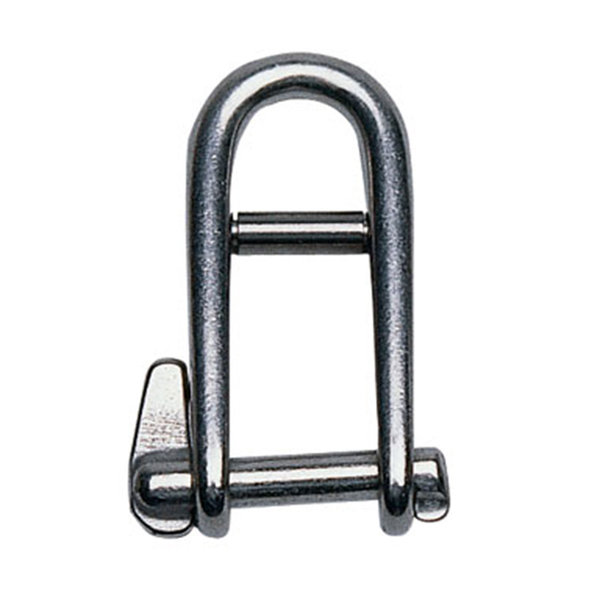 "3/16"" D Stainless Steel Keypin with Bar Shackle"