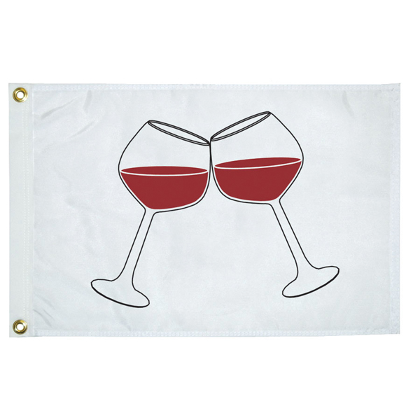 Wine Glass Novelty Flag