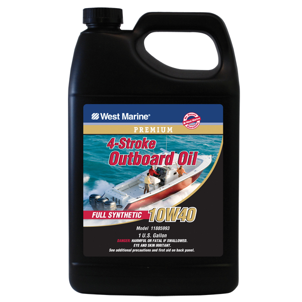 West marine premium 4 stroke full synthetic engine oil for Synthetic motor oil sale