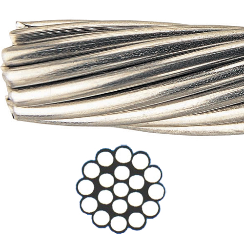 1 x 19 Stainless-Steel Type 302/304 Wire, Price Per Foot