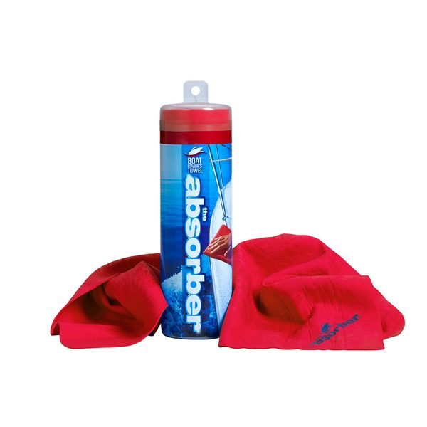 The Absorber High-Performance Synthetic Chamois Red