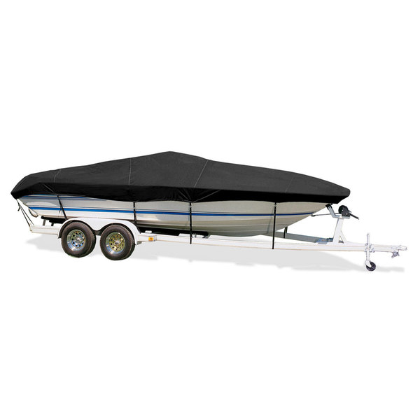"Ski Boat Cover, I/O, Black, Hot Shot, 16'5""-17'4"", 82"" Beam"