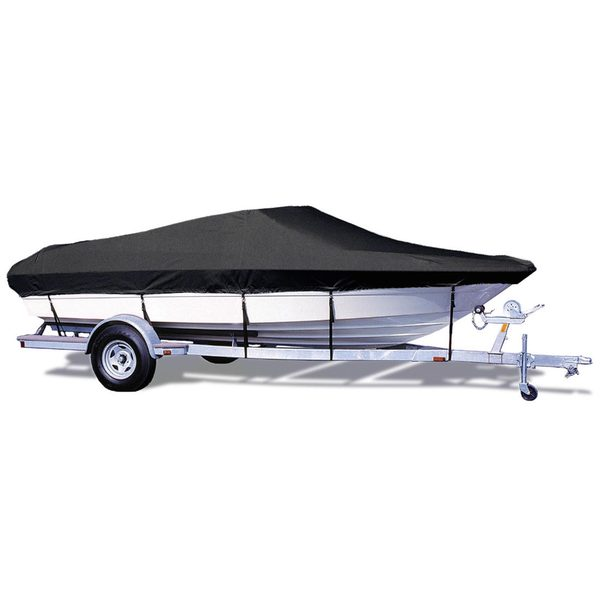 "V-Hull Runabout Cover, OB, Black, Hot Shot, 13'5""-14'4"", 68"" Beam"