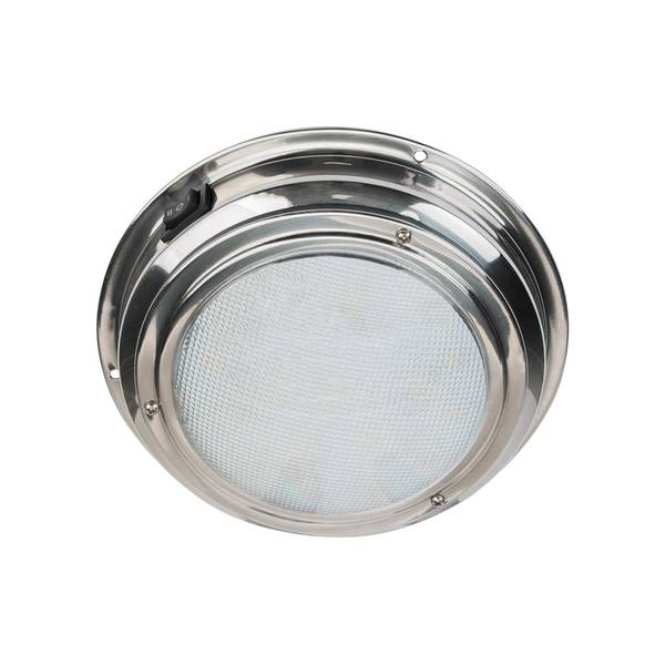 "Sea Dog Boat Marine RV 12V White Surface Mount Dome Task Light 5-3//4/"" W// Switch"