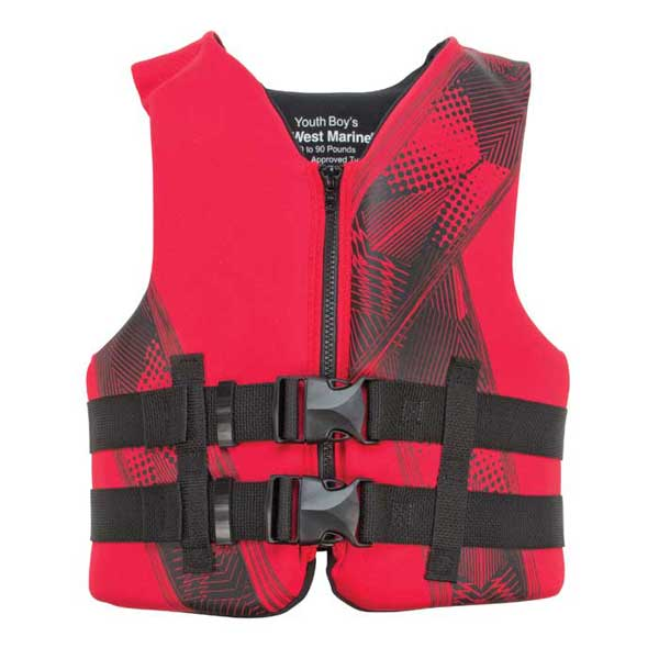 West Marine Kids Neoprene Life Vest Youth Neo Pfd Red
