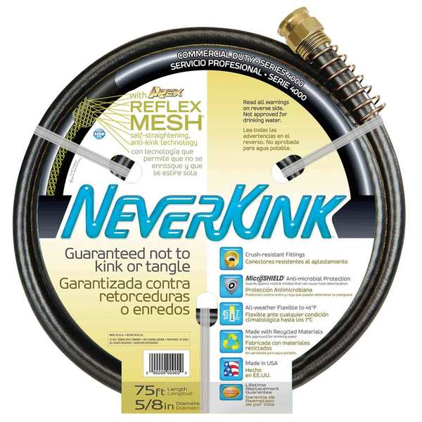 "75' NeverKink Water Hose, 5/8"" diameter"