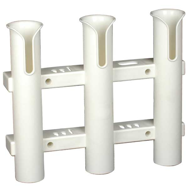Surface Mount 3 Rod Holder, White