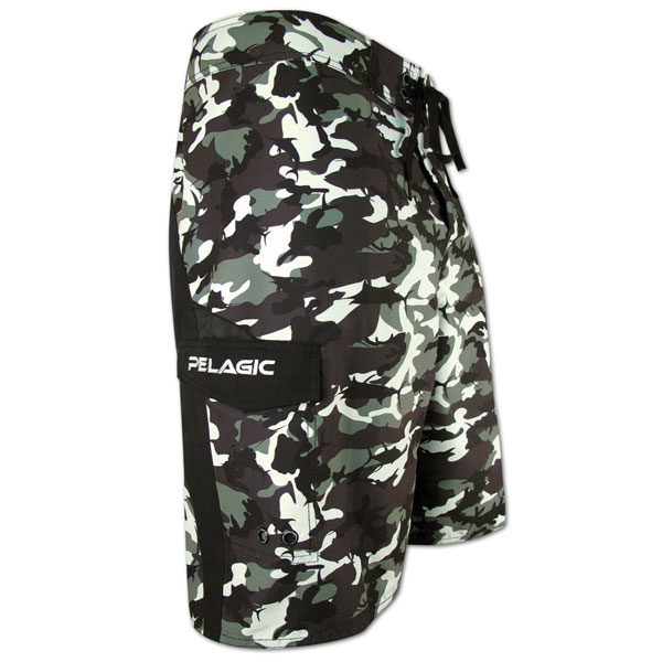 Pelagic men 39 s super fish camo board shorts west marine for West marine fishing shirts