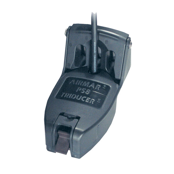 Multifunction Electrical Transducer : Raymarine p transom mount dual frequency transducer