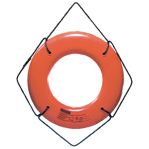 "30"" Dia. Type IV Hard Shell Ring Buoy Orange"