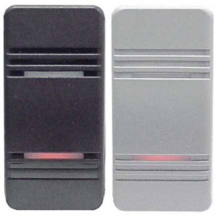 Contura® III Illuminated Weather-Resistant Rocker Switches, Black & Gray Paddles