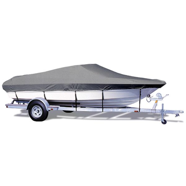 "V-Hull Runabout Cover, OB, Gray, Hot Shot, 13'5""-14'4"", 73"" Beam"
