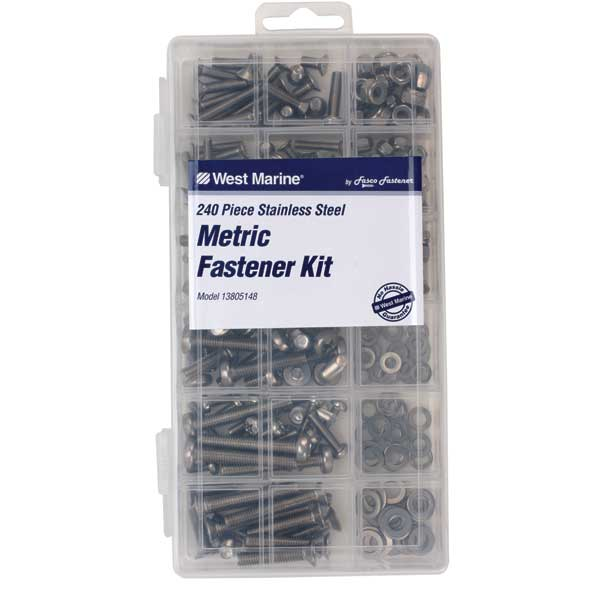 Stainless Steel Metric Fastener Kit, 240-Pack