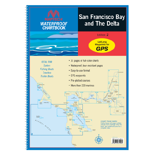 Maptech san francisco bay and the delta 2013 waterproof chart 2nd