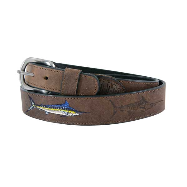 Men's All Leather Marlin Belt